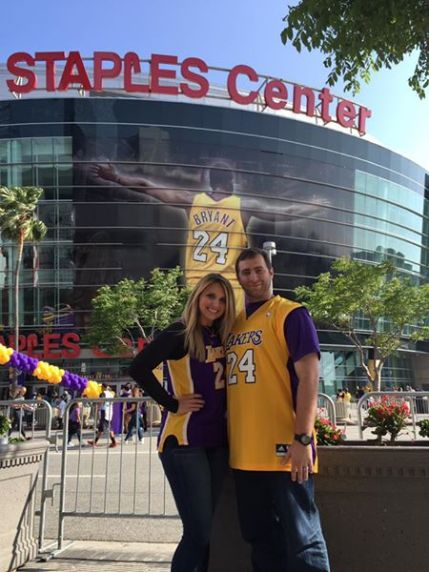 in front of staples